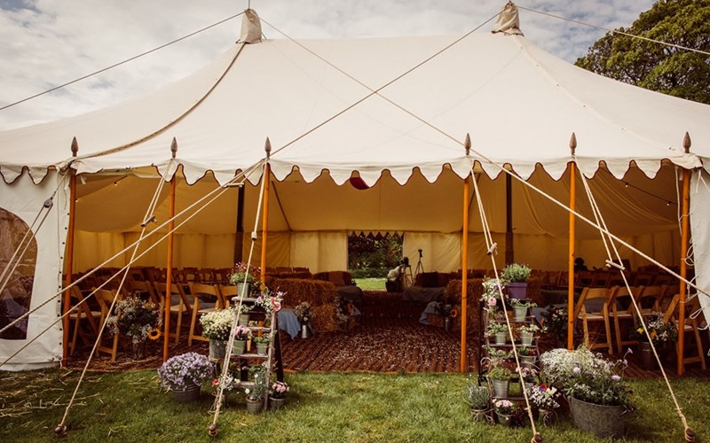 Ashbarton Estate - Ash Barton Estate wedding venue Devon festival marquee