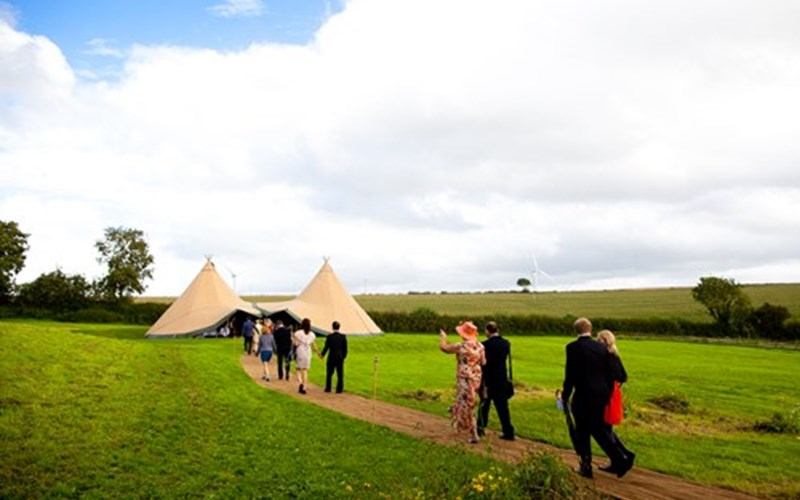Ashbarton Estate - Ash Barton Estate wedding venue Devon DIY no curfew no corkage festival marquee
